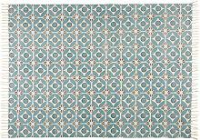 Teppich aus blauer Baumwolle mit Motiven 140x200