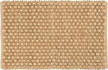 Teppich aus geflochtener Baumwolle und Jute, beige