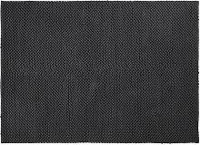 Teppich aus gewebter Baumwolle in Anthrazitgrau