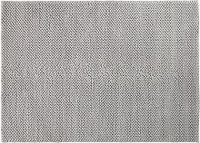 Teppich aus gewebter Baumwolle in Grau 140x200