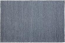 Teppich aus gewebter Wolle in Anthrazitgrau 160x230
