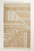 Teppich aus Jute mit Linienmuster - Taupe