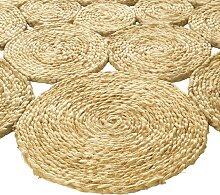 Teppich aus Jutegeflecht 1, ca. 90 cm, rund beige