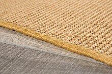 Teppich aus Sisal von misento, mit rutschfester Unterseite aus Gummi, sehr reißfest, widerstandsfähig und pflegeleicht, idealer Sisalteppich für die Küche, Farbe:Beige, Größe:200 x 300 cm