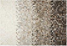 Teppich aus Vacheleder und Wolle 140x200 SQUARU