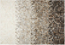 Teppich aus Vacheleder und Wolle 160x230 SQUARU