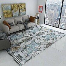 Teppich babyzimmer deko Braunblaue Streifen