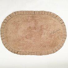 Teppich Badezimmer Bettvorleger Nice mit, Shabby Chic Landhausstil oval cm 50x 80verschiedenen Farben–Taupe