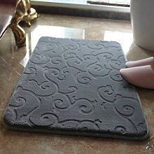 Teppich badezimmer wasseraufnahme matte memory-schaum-mat toilette indoor mat bad rutschfeste fußauflage-B 44x62cm(17x24inch)