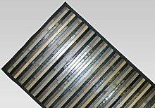 Teppich Bamboo Degradé rutschfest 55x140 cm schwarz