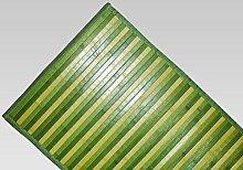 Teppich Bamboo Degradé rutschfest 55x290 cm grün