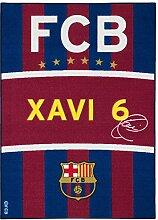 Teppich Barcelona Spielteppich Xavi Fanteppich 95x133 cm blau rot gelb weiß