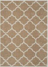 Teppich Baret in Beige/Elfenbein Canora Grey