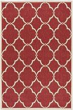 Teppich Bascom in Rot/Creme Canora Grey