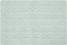Teppich Baumwolle 120 x120 cm Minzgrün INES