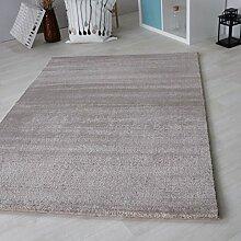 Teppich beige Kurzflor in versch. Größen für Wohnzimmer Jugendzimmer etc, Moderner Teppich schadstofffrei zertifiziert Neu (120 x 170 cm)