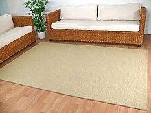 Teppich Bentzon Flachgewebe Beige in 22 Größen