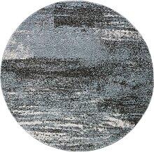 Teppich Bergen rund, blau (Ø 80 cm)