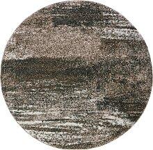 Teppich Bergen rund, braun (Ø 80 cm)