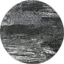 Teppich Bergen rund, grau (Ø 80 cm)