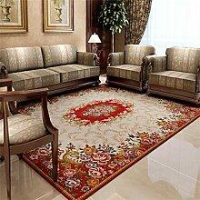 Teppich Bettvorleger Hohe Qualität Chenille Einfache amerikanische Stil Blumen Schlafzimmer Wohnzimmer Antiskid Weiche nicht verblassen Fusselfreie Exquisite Workmanship ( farbe : # 5 , größe : 140*200CM )