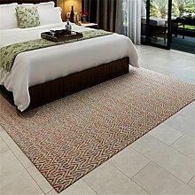 Teppich Bettvorleger Hohe Qualität Hand Made Simple Europäische Geometrie Schlafzimmer Wohnzimmer Antiskid Weiche nicht verblassen Fusselfreie vorzügliche Kunstfertigkeit Baumwolle 140 * 200cm ( farbe : # 2 )