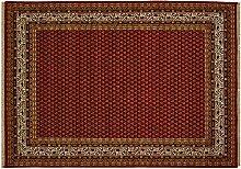 Teppich Bikaner Mir Indien Rot, 120 x 180 cm · Rot · handgeknüpft · Schurwolle · Klassisch · hochwertiger Teppich · RS71411