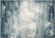 Teppich blau modern aus Polypropylen 160x230cm