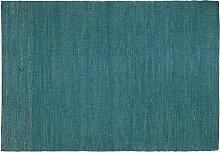 Teppich Blaugrün Jute 170x240 cm GUNNY
