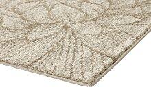 Teppich Blumen Design 2, ca. 67/120 cm beige