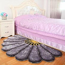 Teppich Blumen-Teppich-Sofa-Teppich-moderner Teppich 3D Blumenentwurfs-Teppich (80 * 150) ( Farbe : A )