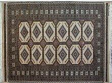 Teppich Bokhara Jaldar in Color Antilope Größe 123x 184cm Original 100% geknotet Hand Farben Antilope, weiß, braun, schwarz