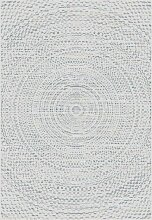 Teppich Breeze Circles wool/ cliff grey 160x230cm,
