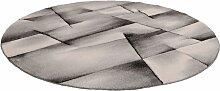 Teppich, BRILLIANCE, merinos, rund, Höhe 13 mm,