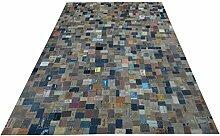 Teppich bunt 170 x 240 cm Denim