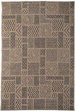 Teppich Canvas in Braun