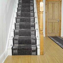Teppich Carpentras für Treppen in Graphitgrau