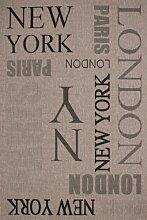 Teppich Carpet modernes Design New York Jugendzimmer RUG Sweden-Täby Silber 160x230cm | Teppiche günstig online kaufen