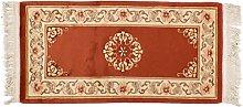 Teppich Chinesische Blumen mit Relief China ca. 120 x 70 cm · Rot · handgeknüpft · Schurwolle · Modern · hochwertiger Teppich · 13632