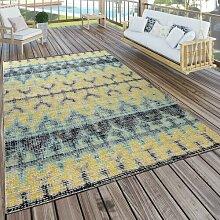 Teppich Chorley in Blau/Gelb