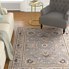 Teppich Colindale in Grau Marlow Home Co.