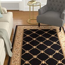Teppich Colindale in Schwarz Marlow Home Co.