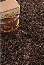 Teppich Commonwealth in Schokoladenbraun Canora