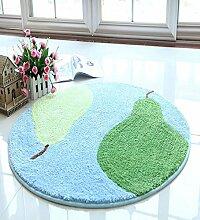 Teppich Computer Stuhl Teppich Nachttisch rutschfeste wasserdichte runde Teppichboden Matte Lebensmittel ( Farbe : C , größe : 1.2M )
