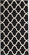Teppich Cottage black/ wool 67x130cm, 67 × 130 cm
