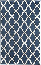 Teppich Cottage blue/ wool 160x230cm, 160 × 230 cm