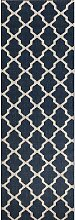 Teppich Cottage blue/wool 60x180cm, 60×180cm