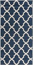 Teppich Cottage blue/ wool 67x130cm, 67 × 130 cm
