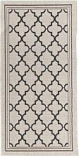 Teppich Cottage wool/ black 67x130cm, 67 × 130 cm