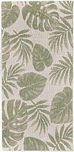 Teppich Cottage wool/ jungle green 67x130cm, 67 ×